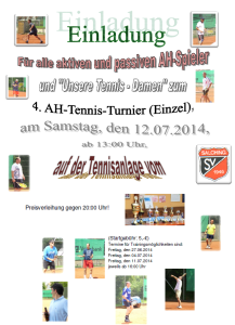 Einladung 4. AH Tennis-Cup
